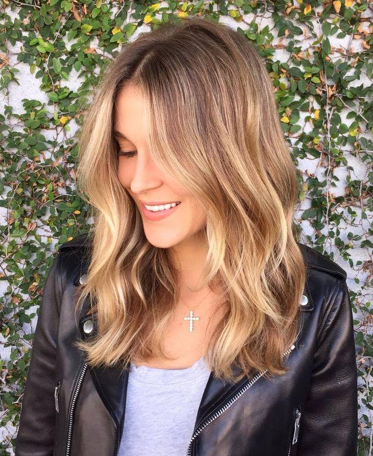 25 golden brown balayage hair