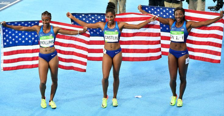 Brianna Rollins, Nia Ali and Kristi Castlin sweep the Olympic 2016 Rio medals for 100 meter