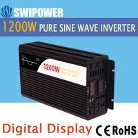 1200 W de onda senoidal pura energia solar inversor DC 12 V 24 V 48 V para AC 110 V 220 V display digital