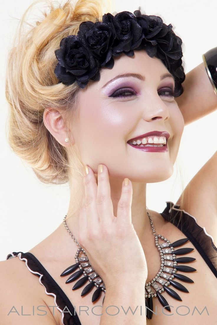Studio beauty shoot for forthcoming Beauty Book - makeup by Bex