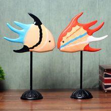 Nordic резьба по дереву поцелуи рыба пара рыбы украшения минималистский современный творческий аксессуары для дома мебель(China (Mainland))