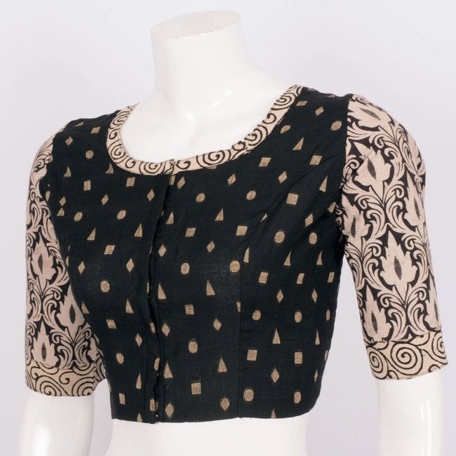 Tvaksati Hand Crafted Kalamkari Cotton Blouse 10008578 - AVISHYA.COM