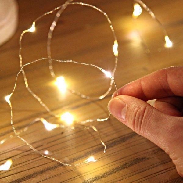 10 20 30er Leds Drahtlichterkette Micro Lichterkette Inklusive Batterien Warm Weiss Neu In 2020 Fairy Lights Bedroom Bedroom Lighting Fairy Lights