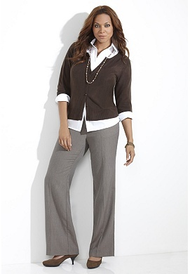 Great wear to work outfit. Pants $44.90, Cardigan $29.90, and Button-up shirt $29.90 at the Avenue