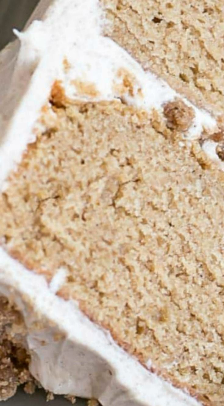 Spice Cake With Cinnamon Streusel ~ This spice cake is the ultimate comfort food. Paired with cinnamon cream cheese frosting and cinnamon streusel for some crunch.