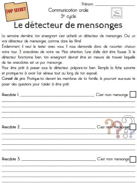 Les idées de Mme Roxane!: Le détecteur de mensonges