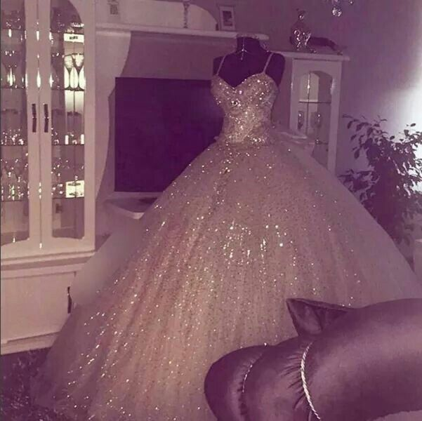 Glittery wedding dress