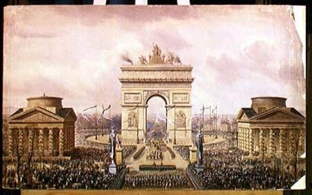 Retour des cendres de Napoléon 1er place de l' Etoile
