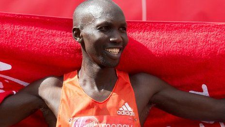 Wilson Kipsang sets new marathon record  2:03:38. Age: 31 Born: Keiyo, Kenya First ran 10,000m in his native Kenya in 2007, before competing in 10km and 15km races. Ran several half marathons over the course of two years from 2008 before competing in his first marathon in 2010, finishing third in Paris. His first victory came in Frankfurt later that year and he has gone on to win a further six marathons. He competed in his first Olympics in London last year, where he finished third.