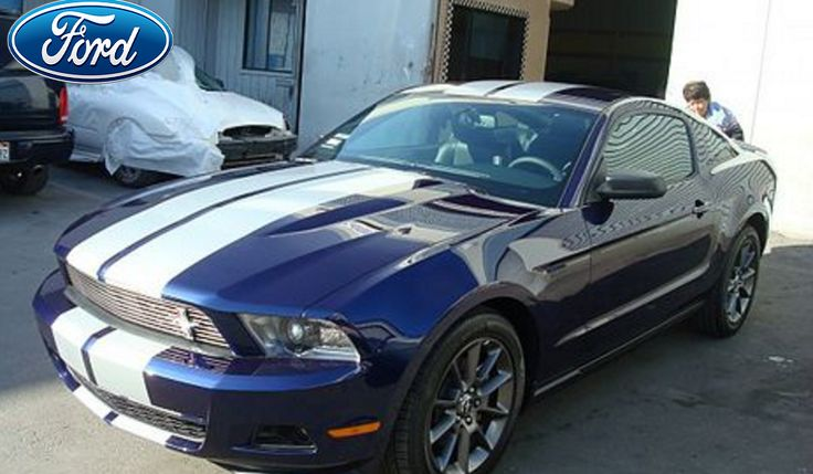 We're proud of the work we did on this now beautiful @Ford #Mustang! What do you think of the stripe?   #autoshop #car #repair #autobody #fordmustang #cargoals