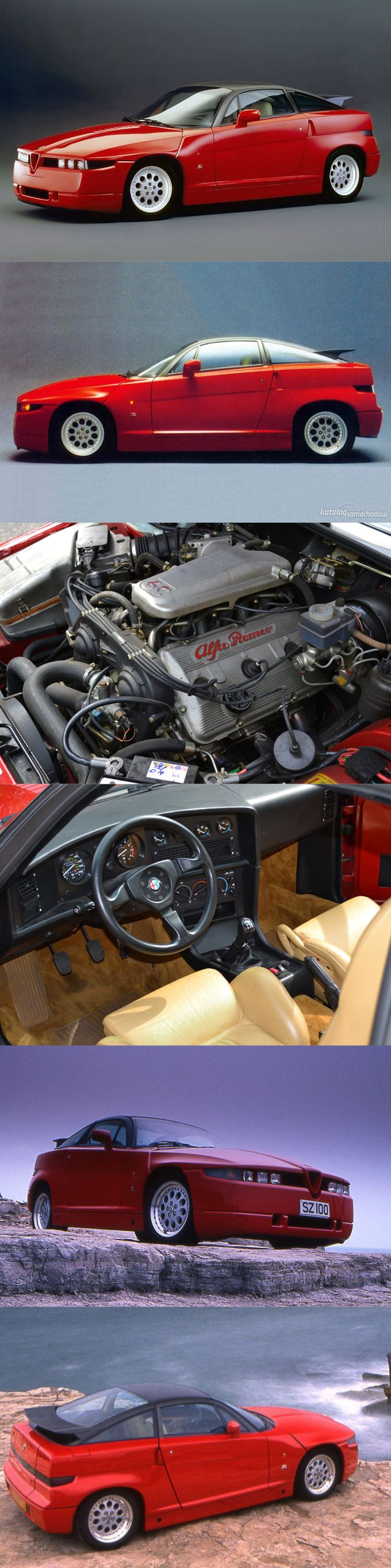 1989 Alfa Romeo SZ / Italy / red / Opron Zagato / ES-30 / Busso V6