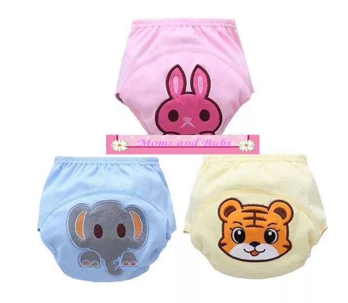 Potty Training Pants Washable Reusable Underwear 100% Cotton Breathable Cover