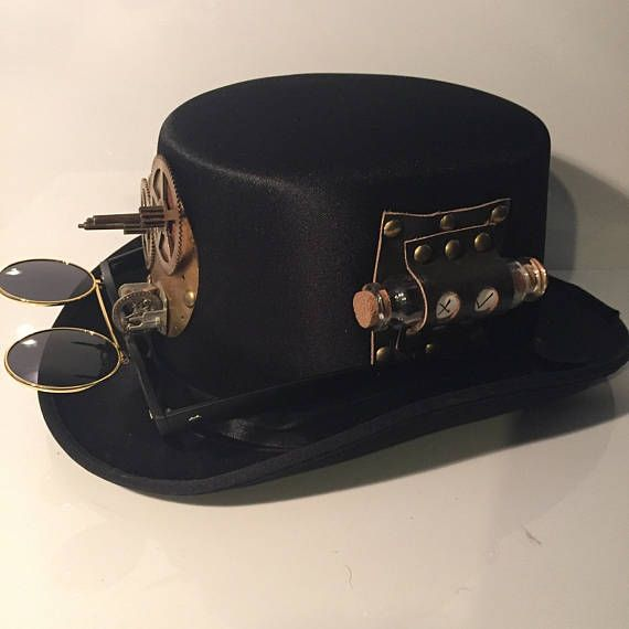 Small Steampunk Top Hat Handmade With Clock Parts Double