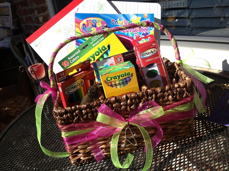 Art Raffle Basket : Dyi art caddy purchased utensil basket at target and
