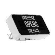 Gratitude Opens The Gate inspirational quote Travelling Speakers