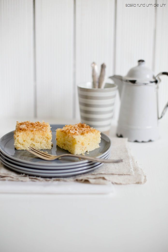 buttermilk cake with coconut flakes