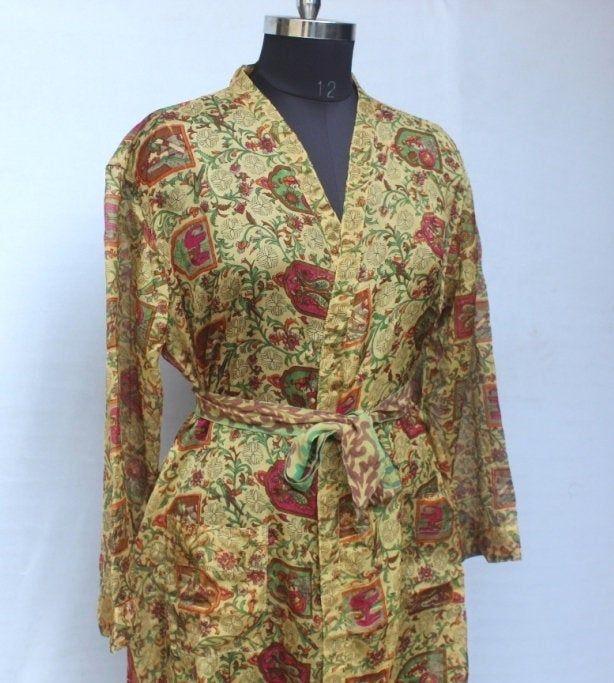 Beach Robe Kimono Robe Swim Wear Robe Night Wear High-quality Lingeries Dressing Gown Indian Saree Kimono\\ Gift for her