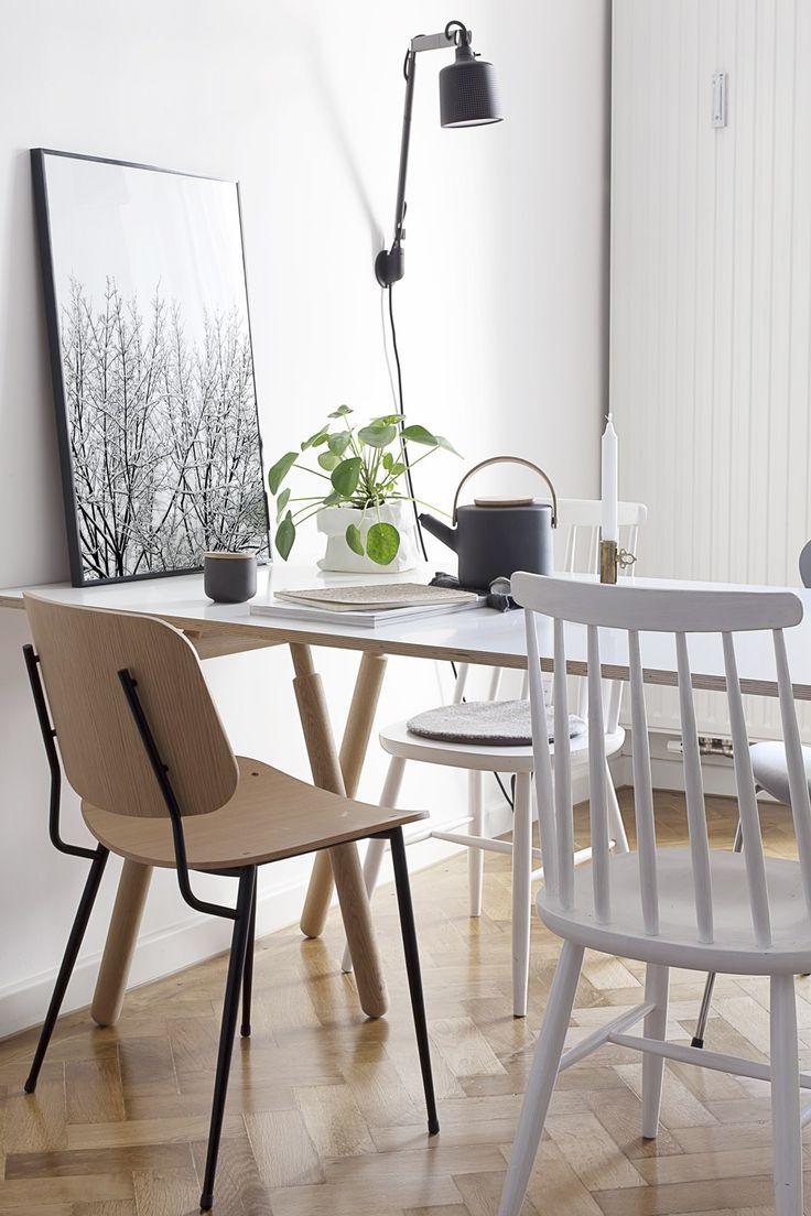 Der Bunte Stil Mix Dieser #Küche Sorgt Für Gemütlichkeit! Zur  Platzsparenden Esszimmer Beleuchtung