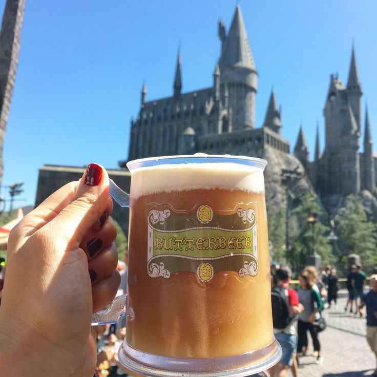 Frozen butter beer - The Wizarding World of Harry Potter @ Universal Studios Hollywood