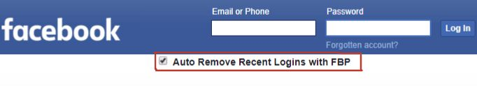 "The latest version of FB Purity adds an option to let you automatically remove the ""Recent Logins"" from the Logout/Login Screen.  Get FB Purity here: http://fbpurity.com"