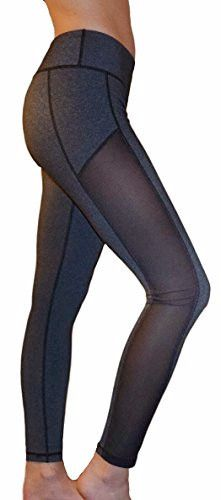 - Breathable mesh yoga pants with comfortable fabric - Great for yoga, running…