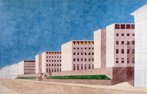 GIORGIO GRASSI, PALAZZO DELL'AMMINISTRAZIONE REGIONALE, TRIEST  1974 WETTBEWERB