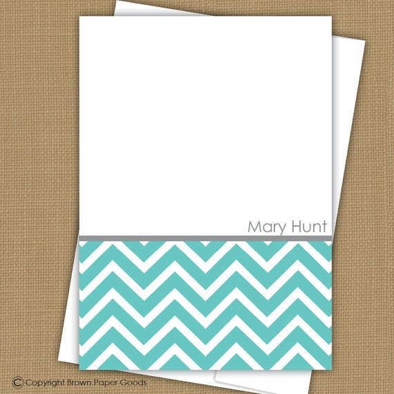 personalized flat note cards note card set by brownpapergoods: Cards Sets, Cards Note, Note Cards