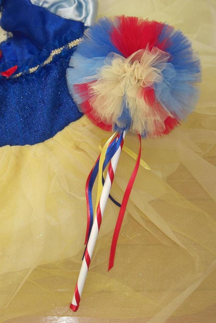 Snow White Wand- Snow White Party- Princess wand- Tulle wand- Princess party favor-Snow White birthday- Snow White Party Favor. $9.75, via Etsy.