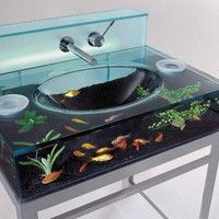 Fishy bathroom sink!!!! |Pinned from PinTo for iPad|