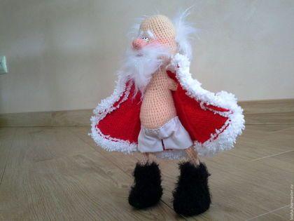 Дед Мороз с огоньком ) - вязаная игрушка дед Мороз