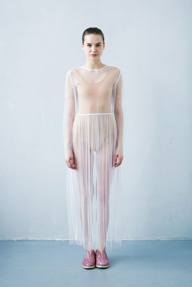 Платье прозрачное белое / Transparent dress white