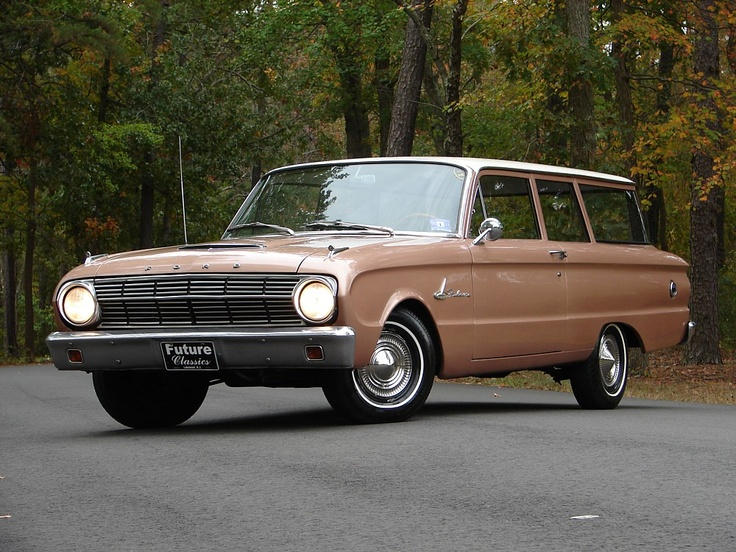 1963 Ford Falcon Wagon - ours was white and had the coolest vinyl seats with cowboy boots and steer heads.