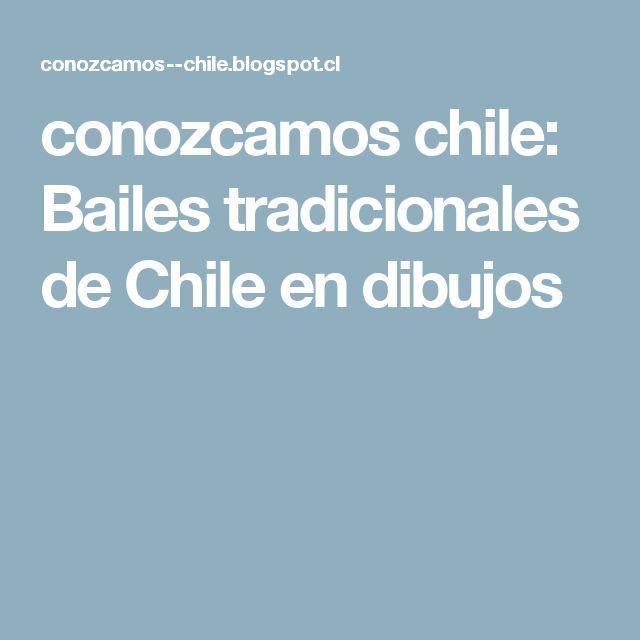 conozcamos chile: Bailes tradicionales de Chile en dibujos