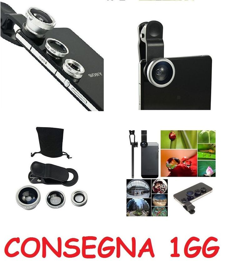 FishEye Grandangolo Macro Lente Obiettivi Selfie Smartphone Iphone a Pinza