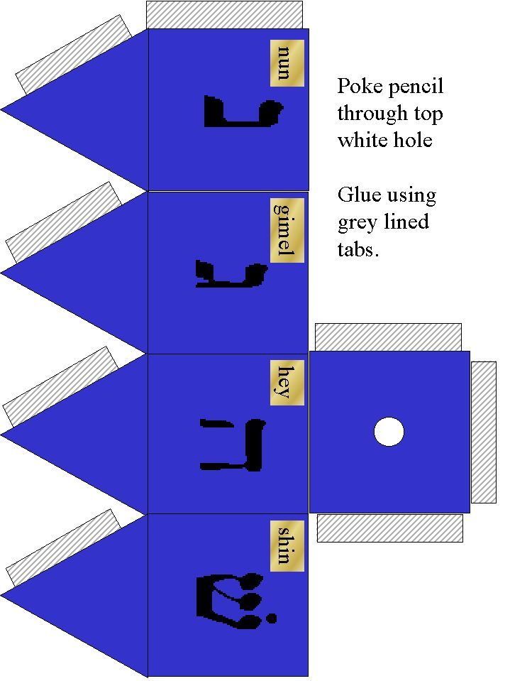 Free Printable Hanukkah Dreidel Craft templates. Remember to always include the different holidays in your classroom, not just christmas!