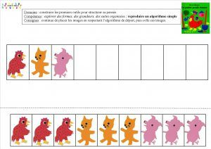 La petite poule rousse : Algorithmes – MC en maternelle