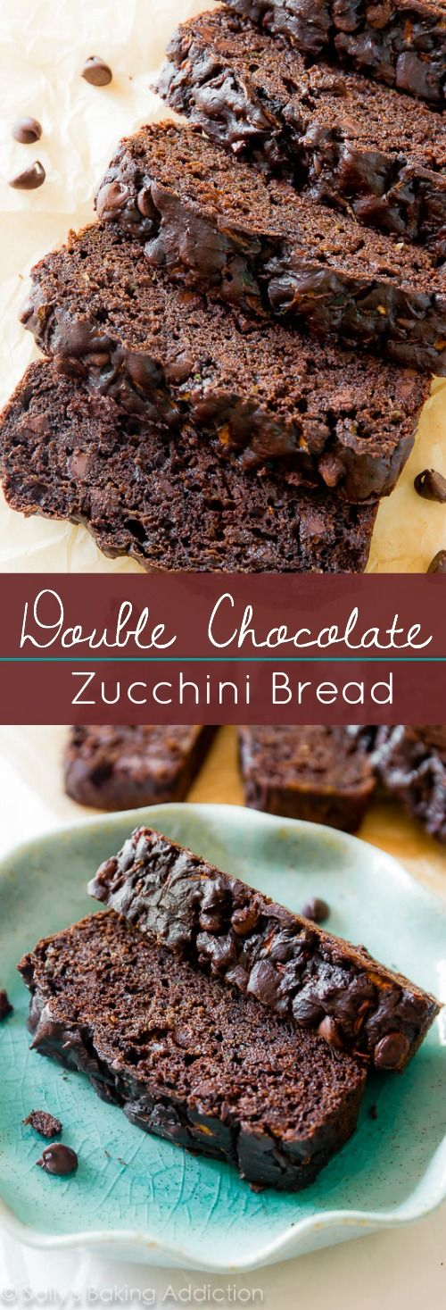Double Chocolate Zucchini Bread on sallysbakingaddiction.com | Less oil, more Greek yogurt. Super moist and FULL OF CHOCOLATE! @sallybakeblog
