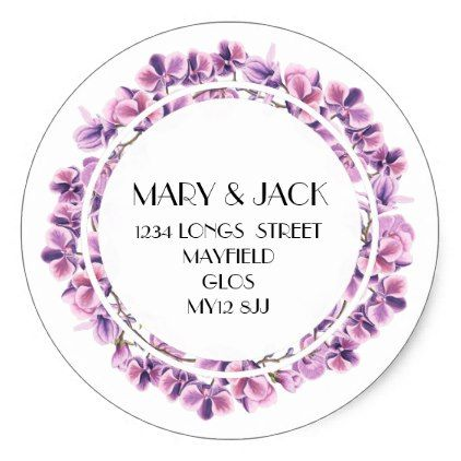 ADDRESS STICKER floral - return address gifts label labels cards diy cyo