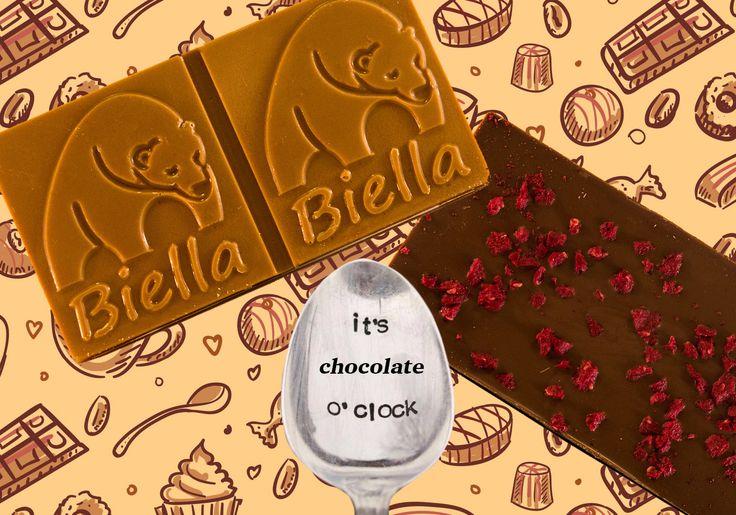 It's chocolate time!! Buona merenda golosoni... Cioccolato biondo e al caramello!