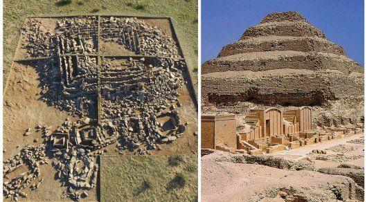 """Недалеко от Караганды раскопан уникальный ступенчатый мавзолей бегазы-дандыбаевского времени (15-10 вв до н.э.). Своими формами это величественное погребальное сооружение напоминает знаменитые египетские пирамиды примерно того же исторического периода и особенно ступенчатую пирамиду фараона Джосера. Судя по монументальной конструкции, этот мавзолей возвели в Сарыарке более трех тысяч лет тому назад для местного """"фараона"""" - вождя или кагана"""