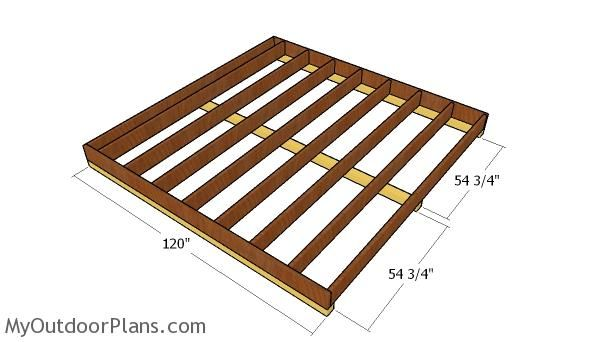 Fitting The Skids To The 10x10 Shed Shed Floor Plans Diy Shed Plans Shed Plans
