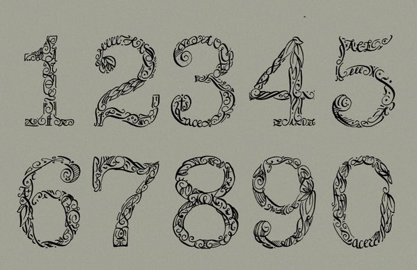 160 Best Calligraphy Numbers Images On Pinterest