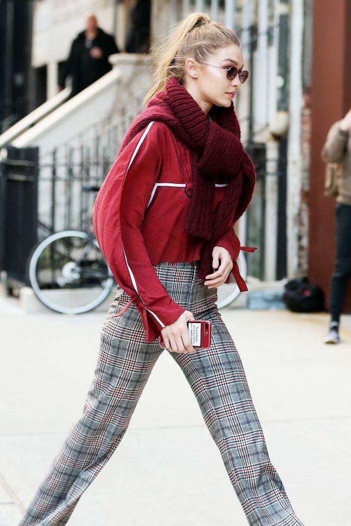 Plaid pants outfit