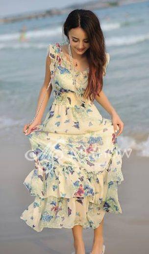 Lotus leaf beach dress blue
