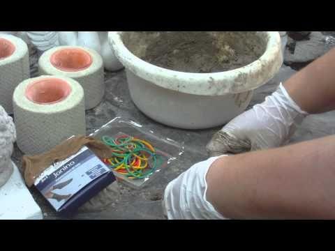 Beton giessen - DIY - Kürbis aus Beton mit Damenstrümpfen