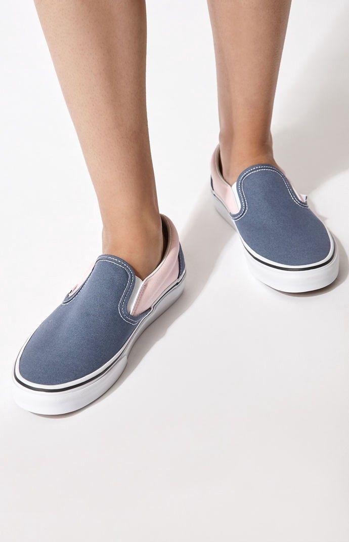 Vans Women's Classic Blue \u0026 Pink Slip