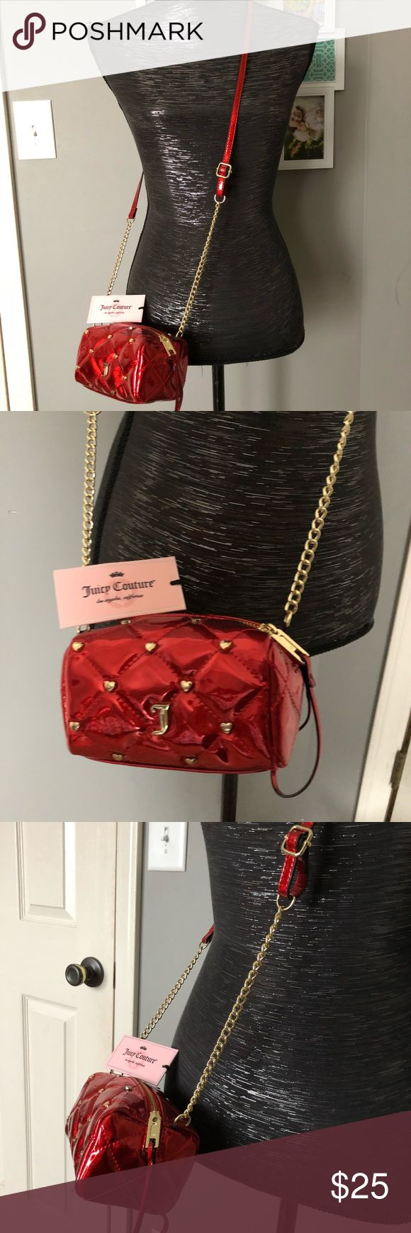 Authentic juicy couture bag New with tags authentic small red bag! Juicy Couture Bags Crossbody Bags