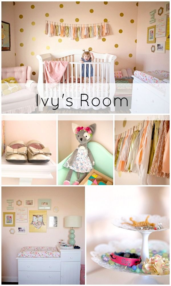 Ivy's Pink, Gold, and Mint Room