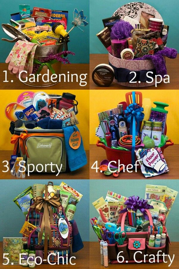 Cool raffle basket ideas....