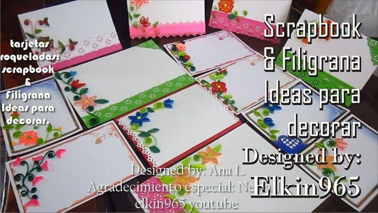 Scrapbook y filigrana tarjetas troqueladas ideas